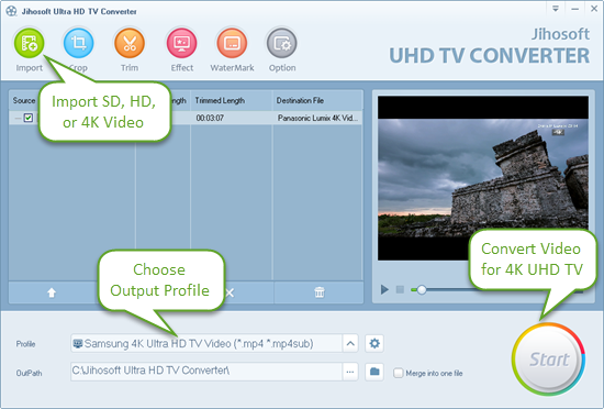 Convert Videos for 4K UltraHD TV