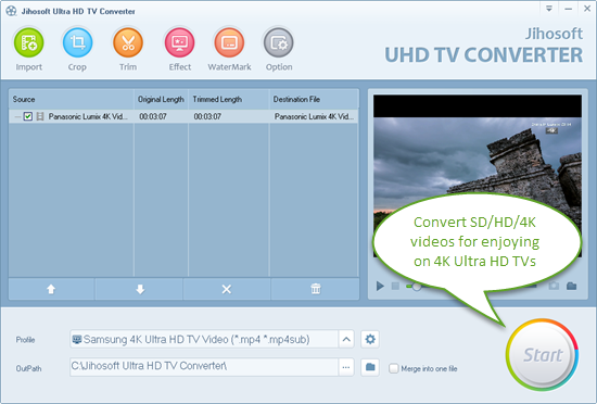 Enjoy Videos on 4K UHD TVs