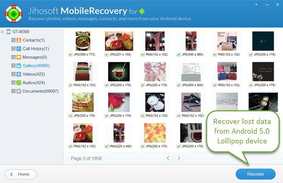 Android Lollipop Data Recovery