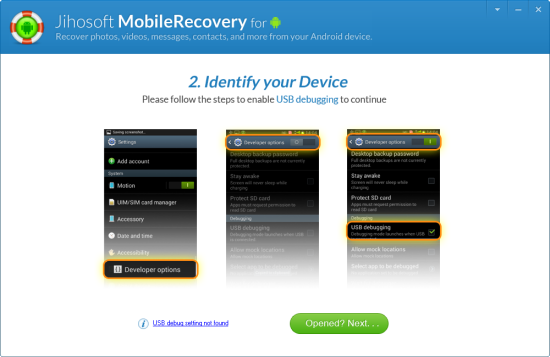 Launch Jihosoft Android Phone Recovery