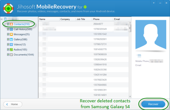 How to Recover Deleted Contacts from Samsung Galaxy S4