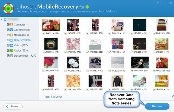 Recover Deleted/Lost Data on Samsung Galaxy Note 2/3/7