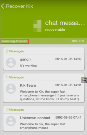 Restore Kik Messages on Android with GT Recovery