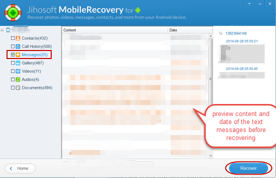 recovering deleted texts