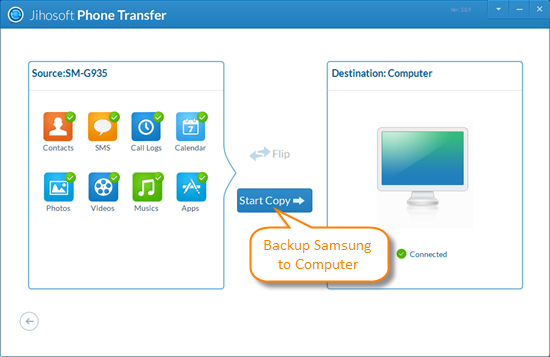 Backup and Restore Samsung via Jihosoft Android Manager