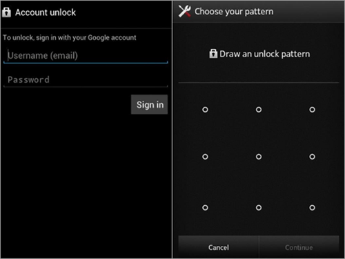 "Remove Android Lock with ""Forgot Pattern"" Feature"