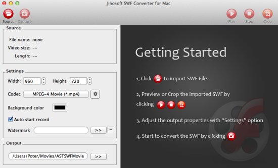 How to Use Jihosoft SWF Converter for Mac