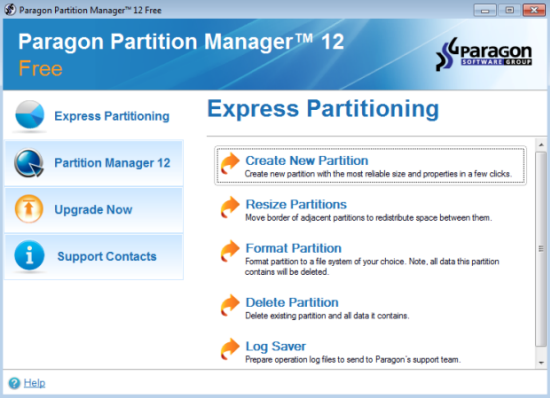 free partition software for server