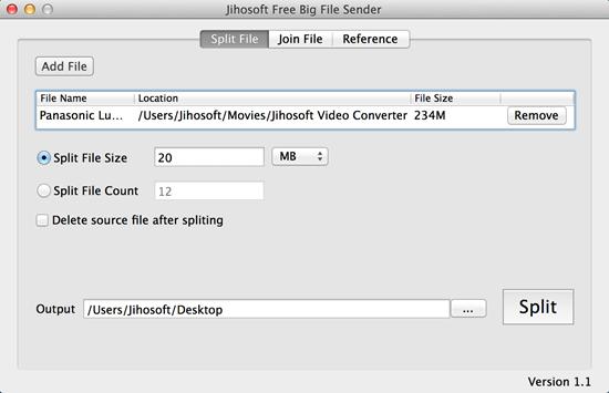 Jihosoft Big File Sender Free for Mac 1.1 full