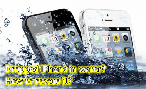 How to recover data from water damaged iphone for Dropped iphone in swimming pool