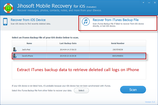 How to Recover Deleted Call History/Log on iPhone