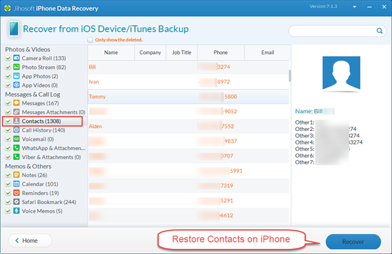 how to retrieve deleted contacts iphone how to recover deleted contacts on iphone others 1941