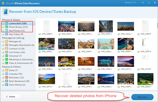 Use iPhone Photo Recovery Software