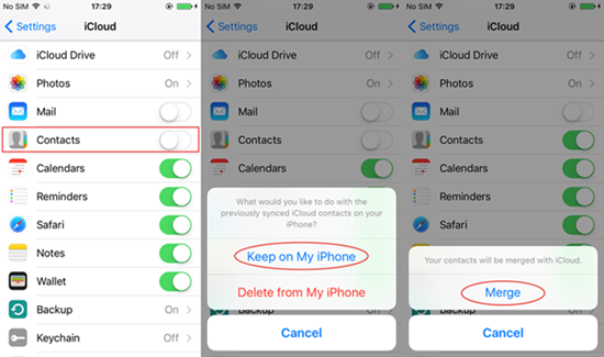How to Restore Contacts on iPhone 7/6S/6/5S/5C/5