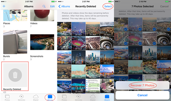 Recover Deleted iPhone Photos from Photos App