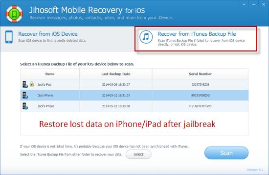 How to Restore iPhone/iPad Data after Jailbreak