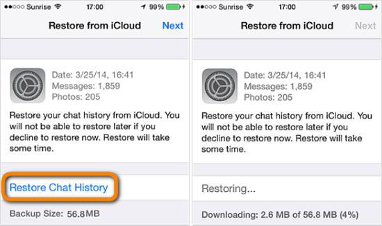 Recover WhatsApp Chat History from iPhone Backup