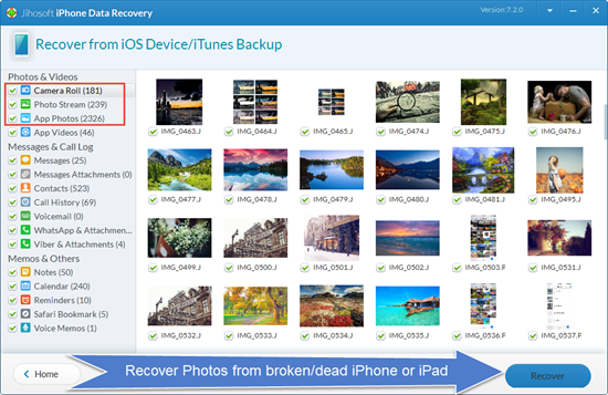 Recover Data from Broken iPhone/iPad with a Third Party Tool