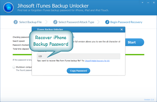 what is my iphone backup password python md5 brute filelease 5164