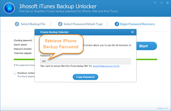 How to Retrieve Lost Password for iPhone Backup