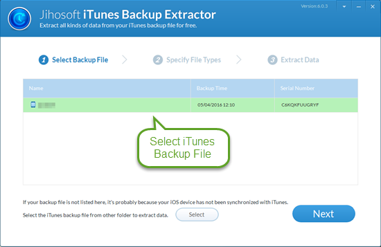 serial key iphone backup extractor mac