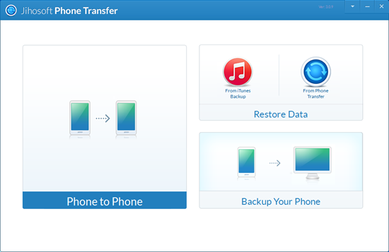 One-click phone to phone data transfer.