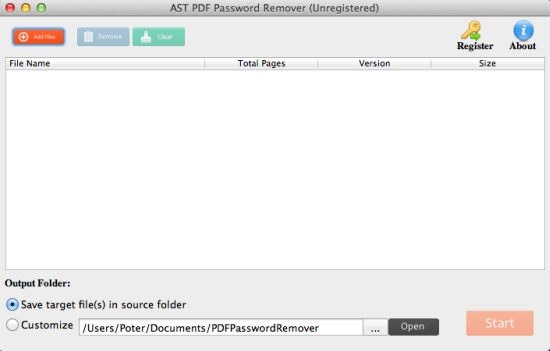 PDF Password Remover for Mac 1.2 破解版 - PDF文档密码破解工具