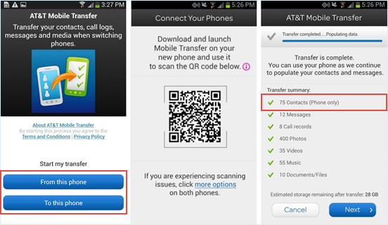 switch from iphone to android at&t