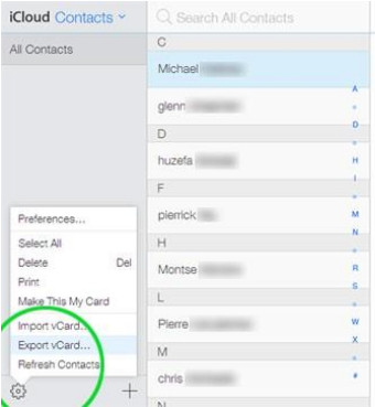 Transfer Contacts from iPhone to Samsung Via iCloud