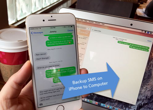 iphone messages on pc transfer backup sms and imessages from iphone to computer 8792
