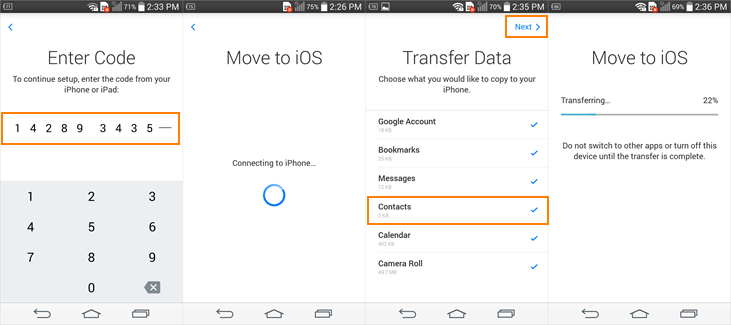 How to Transfer Contacts from Samsung Galaxy to iPhone 6S/6S