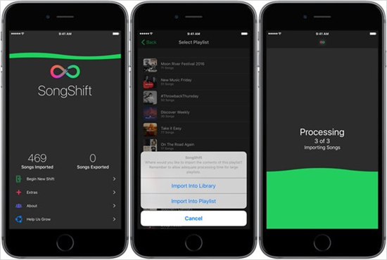Export Spotify Playlist to Apple Music with SongShift