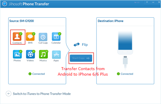 how to copy contacts from android to iphone how to transfer contacts from android to iphone 6 6 plus 20782