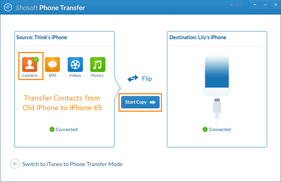 how to move contacts from iphone to android how to transfer contacts from iphone to iphone 6s 6s plus 3200
