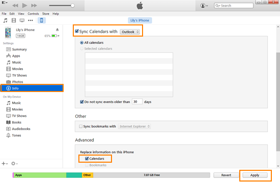 Transfer Contacts with iTunes
