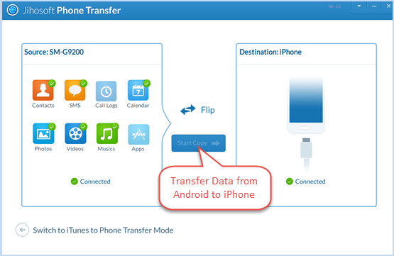 iphone to android transfer can any software transfer data from my android to iphone 15489