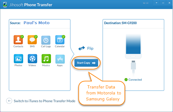 Steps to Move Data from Motorola to Samsung Galaxy