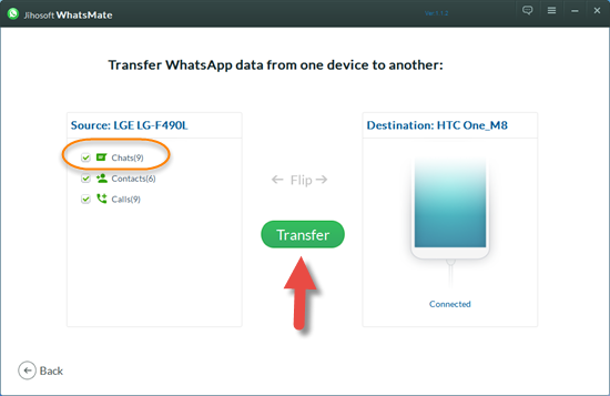 Use Android WhatsApp Transfer