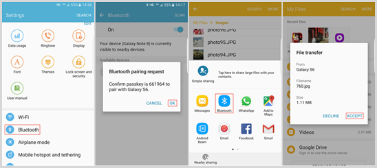 Transfer Data from Android to Android Wirelessly