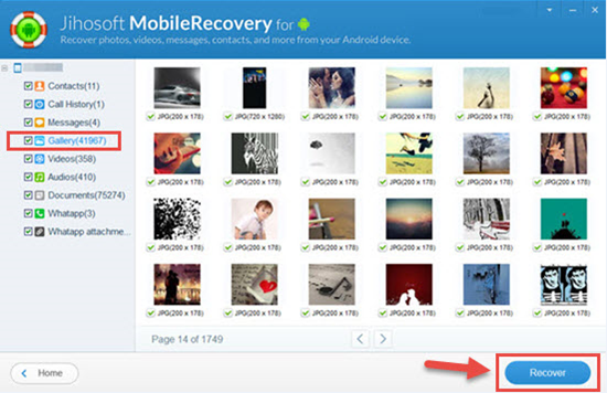 Preview and Retrieve Deleted Photos from Samsung Galaxy S