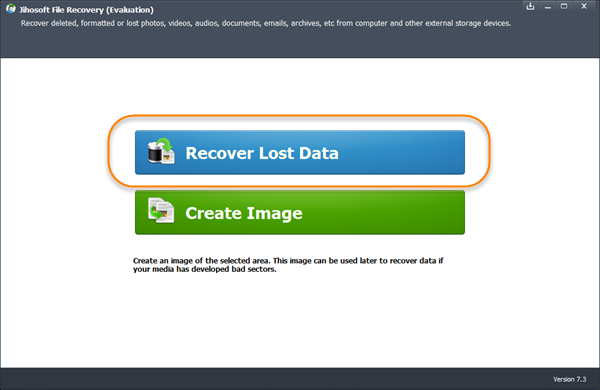Start Jihosoft File Recovery