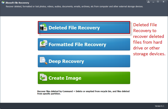 Recover Deleted Files Using Jihosoft File Recovery