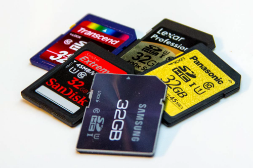 A Formatted Memory Card.
