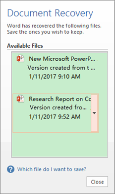 Recover Unsaved PowerPoint Document with AutoRecover Function