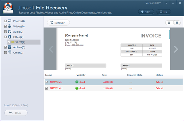 Excel Recovery - Recover Deleted XLS/XLSX Files