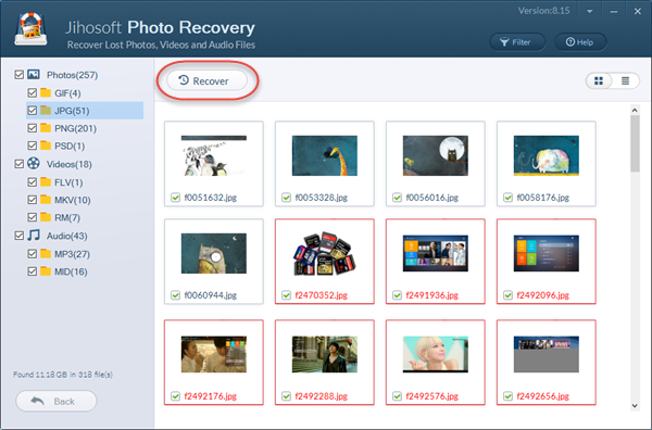 Recover Pictures/Images with JPG/JPEG Recovery Software