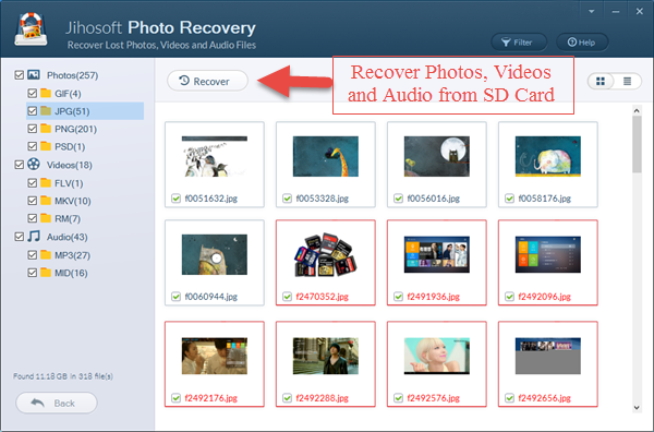 Recover Deleted Photos from Micro SD Card
