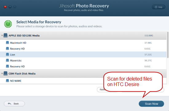 How to Recover Deleted Photos & Videos from HTC Desire