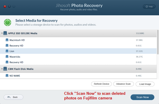 How to Recover Deleted Photos from Fujifilm Camera