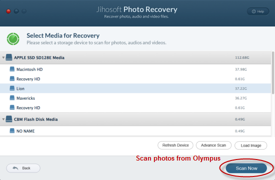 Recover Deleted Photos from Olympus Camera